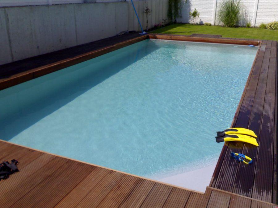 Graue schwimmbadfolie schwimmbad und saunen for Pool graue folie
